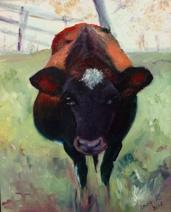 Fat Cow, 2012. Oil on canvas: SOLD.