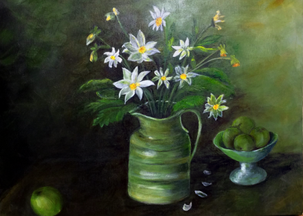 Flowers after Margaret Olley: Acrylic: Price $250