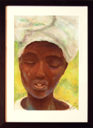 Africa in tears: from photo image: Pastel: Not for sale.
