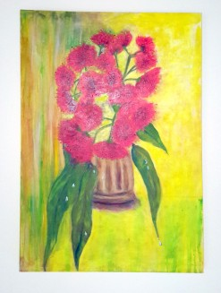 Gumnut Blossom: Acrylic: 40 x 92 cm: Price $250